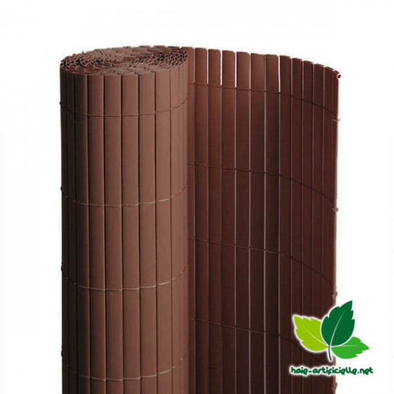 Canisse En PVC Double Face Marron