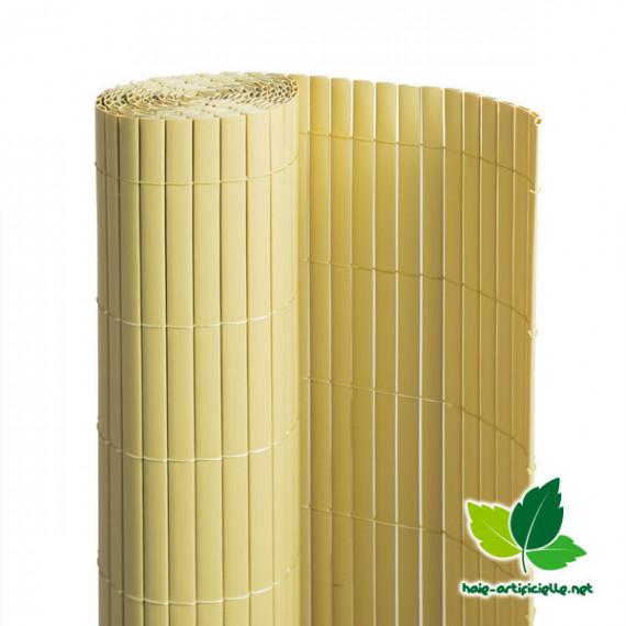 Canisse en PVC Double Face Bambou