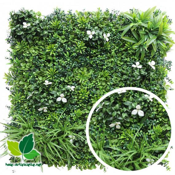 Mur Végétal Artificiel FLORA - 1m x 1m