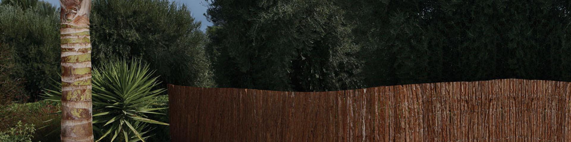 Canisse - Clôture naturelle - France green - écorce de pin - fougère